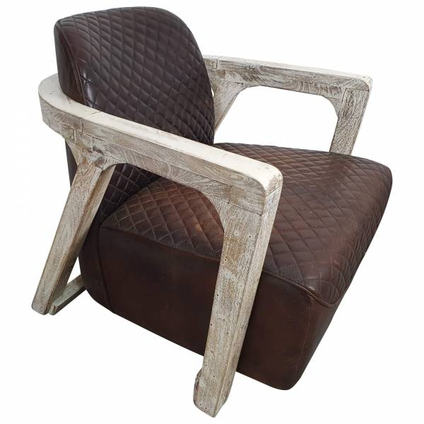 Clubsessel Loungesessel Lehnsessel Gepolsterter Sessel aus Holz Design