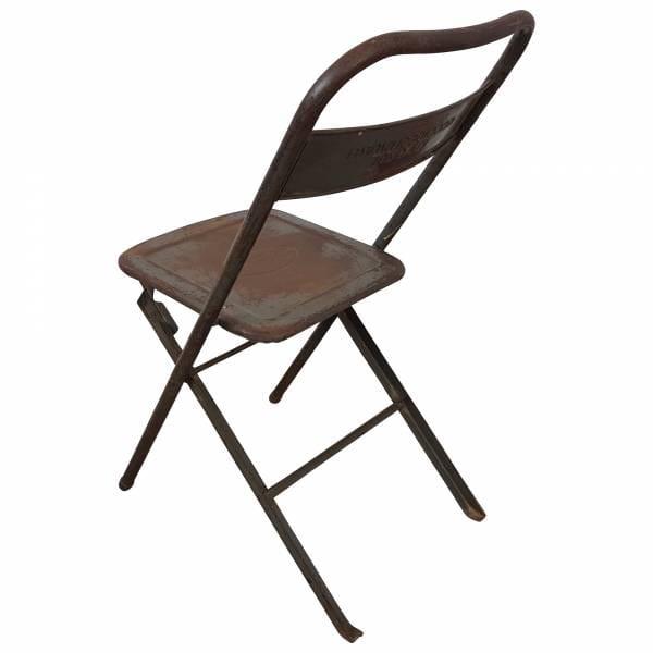 Klappstuhl Metall Stuhl Gastro Bistro Industrial Style Used Look Vintage Design