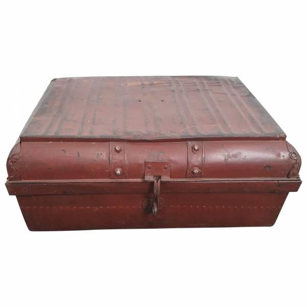Alter Koffer Metall Vintage Metallkoffer alte Kiste Metalllkiste shabby Unikat 11