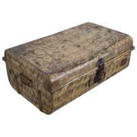 Alter Koffer Metall Vintage Metallkoffer alte Kiste Metalllkiste shabby Unikat 13