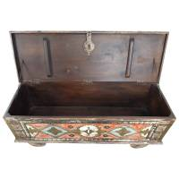 Truhe Kiste Holztruhe Vintage Massiv Box aus Altholz Antik Handarbeit Unikat 19