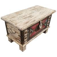 Holztruhe Vintage Truhe Holz Shabby Kiste Holzkiste Box Lagerung Massiv Unikat 6