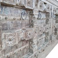 Sideboard groß Anrichte Schrank Design Massiv weiß Vintage recycelt Antik Unikat