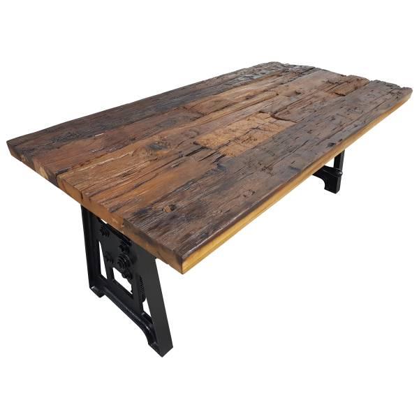Couchtisch Altholz höhenverstellbar Kurbel Wohnzimmertisch Vintage Crank Table