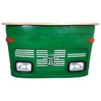 Theke Empfangstresen LKW Bar Tresen Tata klein grün Vintage Design Empfangstheke Metall Anrichte