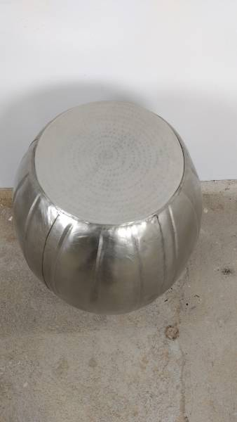 Beistelltisch Ablagetisch silber 50 Ø 60 Metall Loungetisch Tisch Hammerschlag