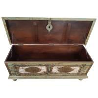 Truhe Kiste Holztruhe Vintage Massiv Box aus Altholz Antik Handarbeit Unikat 3