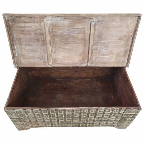 Truhen-Tisch Holz-Kiste Wohnzimmertisch Couchtisch Aufbewahrung Vintage Massiv