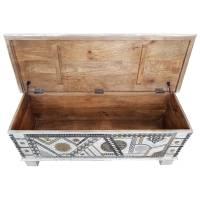 Truhe Kiste Holztruhe Vintage Massiv Box aus Altholz Antik Handarbeit Unikat 6