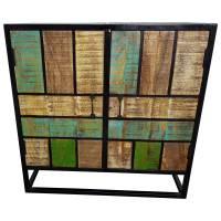 Kommode Schrank Flur-schrank Anrichte 2 Türen Ablage Massivholz Vintage Shabby