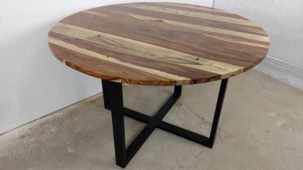 Esstisch Küchentisch Esszimmer-Tisch Massiv-Holz Design Rund Ø 120 cm modern Art