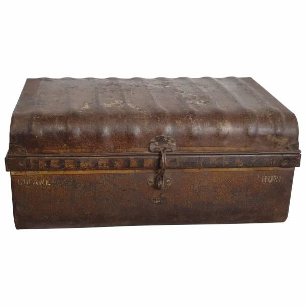 Alter Koffer Metall Vintage Metallkoffer alte Kiste Metalllkiste shabby Unikat 9