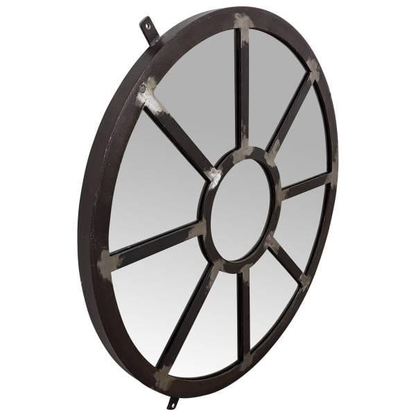 Spiegel rund Wandspiegel silber Ø 75 cm Metall Deko Industrie Industrial Design