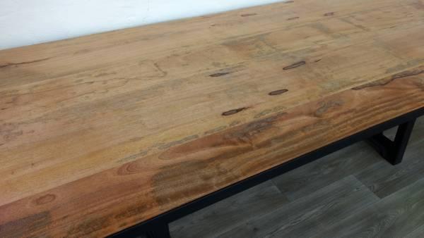Esstisch Esszimmer-Tisch Massiv-Holz Mango Industrial Design Dining Crank Table