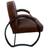 Sessel Clubsessel Lounge Leder in coffee braun Designer 20er Jahre Armcair Loft