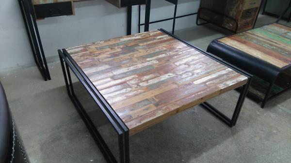 Couchtisch Wohnzimmertisch Loungetisch 100 cm reclaimed recycling Vintage Möbel