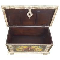 Holztruhe Vintage Truhe Holz Shabby Kiste Holzkiste Box Lagerung Massiv Unikat 32