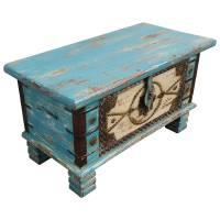 Holztruhe Vintage Truhe Holz Shabby Kiste Holzkiste Box Lagerung Massiv Unikat 4