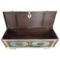 Truhe Kiste Holztruhe Vintage Massiv Box aus Altholz Antik Handarbeit Unikat 5