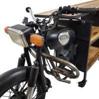 Motorrad Bartisch Tresen Regal Konsolentisch Metall Auto Möbel Vintage Unikat