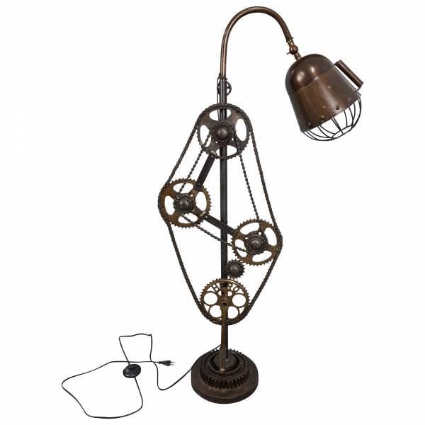 Stehlampe Leuchte Steampunk Pipe Industrial Industrie Retro Vintage Art Loft Design