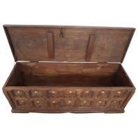 Holztruhe Truhe Kiste Massiv Box aus Altholz Türen Antik Handarbeit Unikat 11