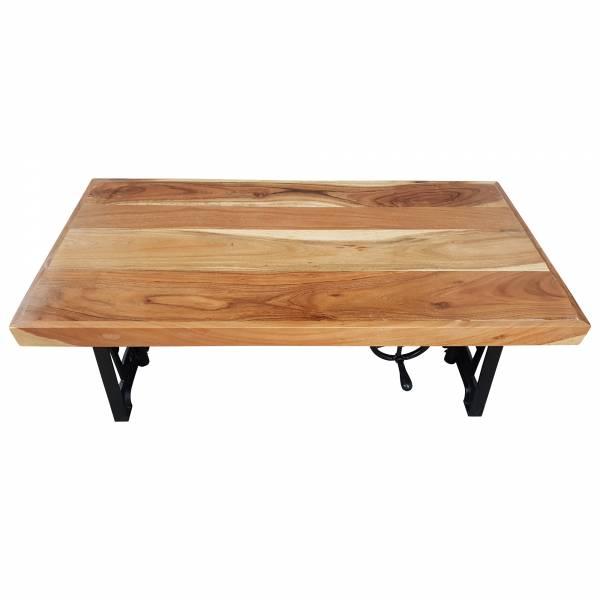 Couchtisch Teak höhenverstellbar Kurbel Wohnzimmertisch Vintage Crank Table