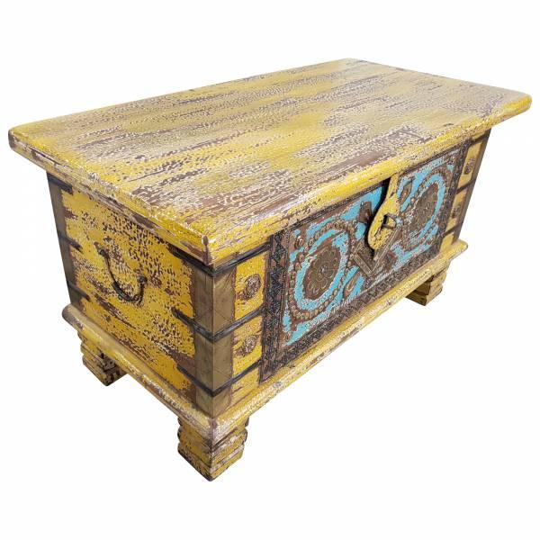 Holztruhe Vintage Truhe Holz Shabby Kiste Holzkiste Box Lagerung Massiv Unikat 7