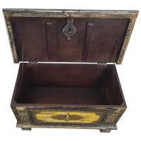 Holztruhe Vintage Truhe Holz Shabby Kiste Holzkiste Box Lagerung Massiv Unikat 9