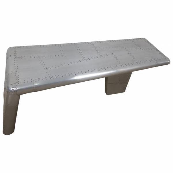 Couchtisch Alu Wohnzimmertisch Sofatisch Loungetisch Aviator Tisch silber Design