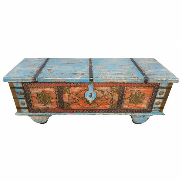 Truhe Kiste Holztruhe Vintage Massiv Box aus Altholz Antik Handarbeit Unikat 9