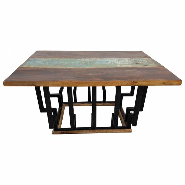 Wohnzimmertisch Couchtisch Lounge-Tisch Massiv-Holz Fabrik Industrie Design