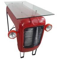 Traktor Thekentisch Tresen Stehtisch Industrie Möbel Designer Bar rot Ferguson