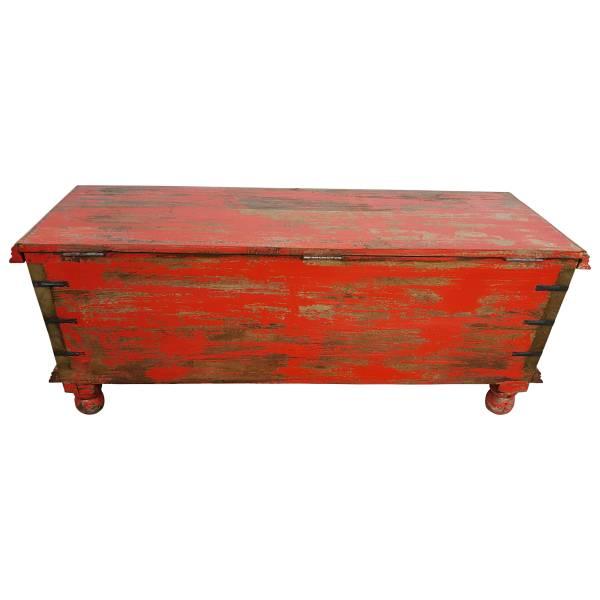 Truhe Kiste Holztruhe Vintage Massiv Box aus Altholz Antik Handarbeit Unikat 1