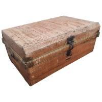 Alter Koffer Metall Vintage Metallkoffer alte Kiste Metalllkiste shabby Unikat 7