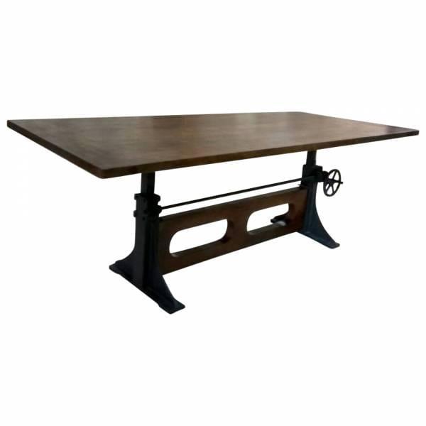 Esstisch Esszimmer-Tisch Massiv-Holz 220x100 Industrial Design Loft Crank Table