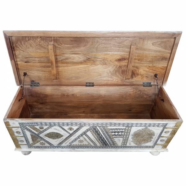 Truhe Kiste Holztruhe Vintage Massiv Box aus Altholz Antik Handarbeit Unikat 20