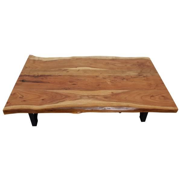 Couchtisch Baumkante höhenverstellbar Kurbel Wohnzimmertisch Vintage Crank Table