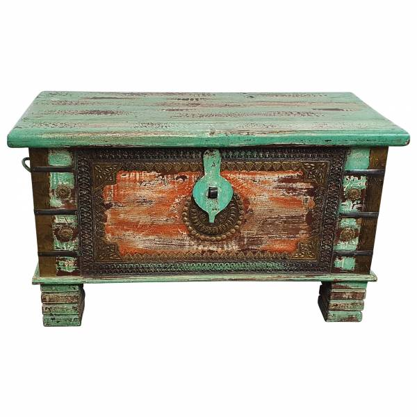 Holztruhe Vintage Truhe Holz Shabby Kiste Holzkiste Box Lagerung Massiv Unikat 33