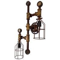 Wandleuchte Vinatge Retro Look e27 Pipe Rohr Wandlampe Industrie Laterne Wand Beleuchtung