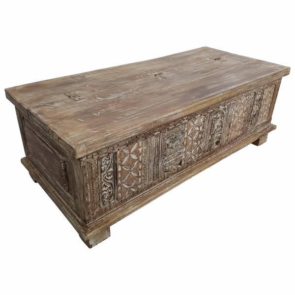 Truhe Kiste Holztruhe Vintage Massiv-Holz Box Goa Altholz Antik Türen Handarbeit