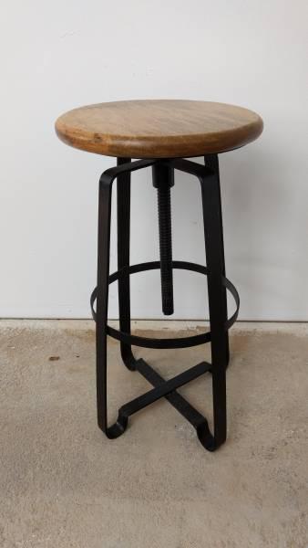 Barhocker Bar-Stuhl Tresen-Hocker Drehhocker Drehbar Lounge Art Industrie Design
