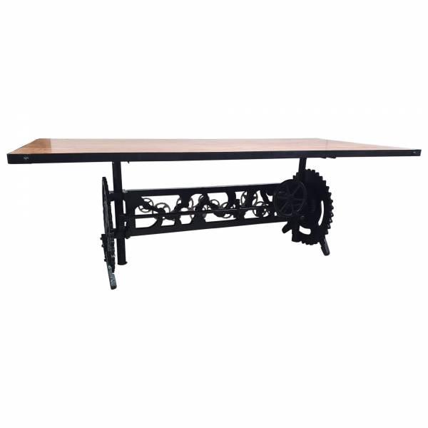 Esstisch Esszimmer-Tisch Akazie Massiv-Holz Industrial Design Crank Table