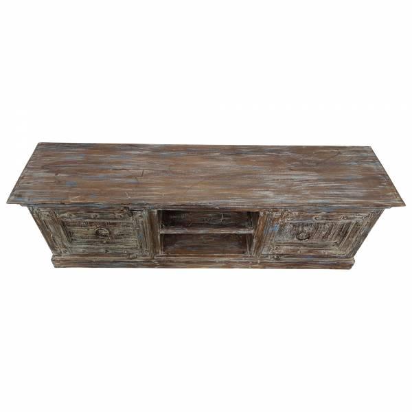 TV-Lowboard Möbel Sideboard Schrank alte Türen Recycelt Massiv-Holz Shabby Chic