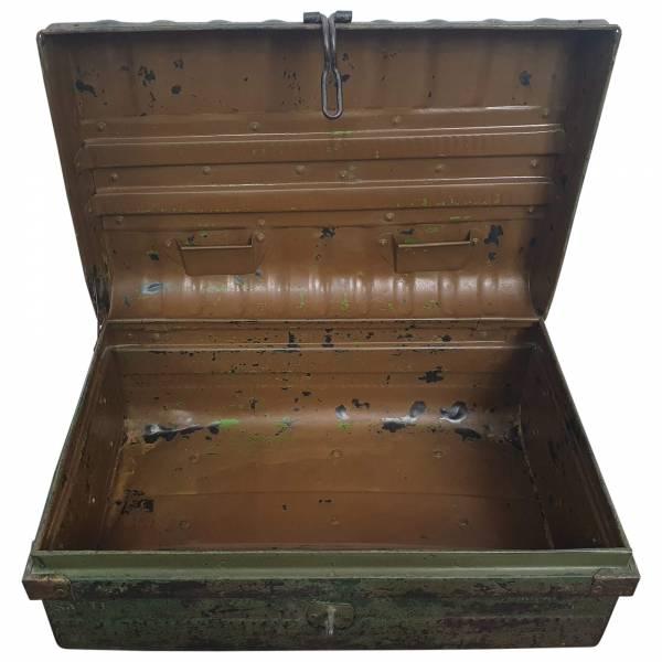 Alter Koffer Metall Vintage Metallkoffer alte Kiste Metalllkiste shabby Unikat 8