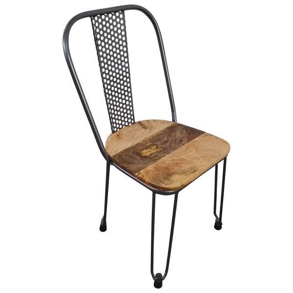 Stuhl Industrie Design Hairpin Silber stapelbar Esszimmerstuhl Steampunk Modern