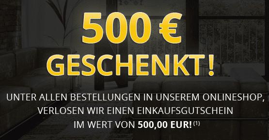 500,00 EUR Einkaufsgutschein