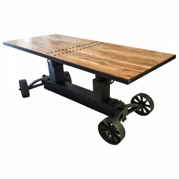 Esstisch Esszimmer-Tisch Massiv-Holz Mango Industrie Design Dining Crank Table