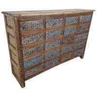 Sideboard Schubladenschrank Massiv Antik Vintage Schrank Taste of India Unikat
