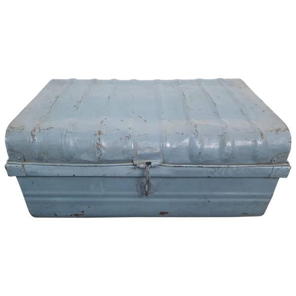 Alter Koffer Metall Vintage Metallkoffer alte Kiste Metalllkiste shabby Unikat 17